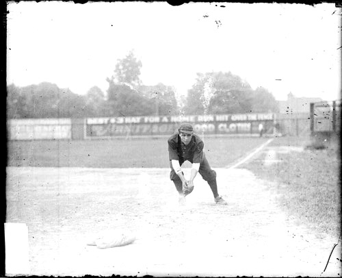Nate Harris' publicity photograph for the Chicago Union Giants, circa 1909. Photo: Chicago History Museum